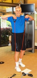 Hank Mol breaks a sweat at the Querencia fitness center