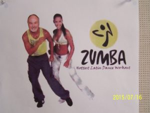 Dr. Roger Landry does Zumba!